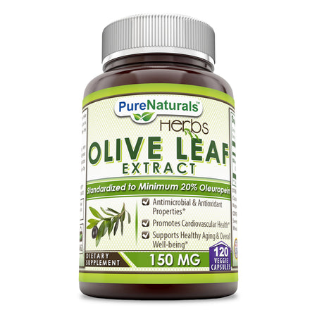 Pure Naturals Olive Leaf Extract 150 Mg 120 Veggie Capsules