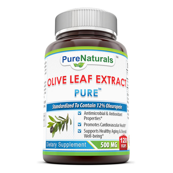 Pure Naturals Olive Leaf Extract 500 Mg 120 Veggie Capsules
