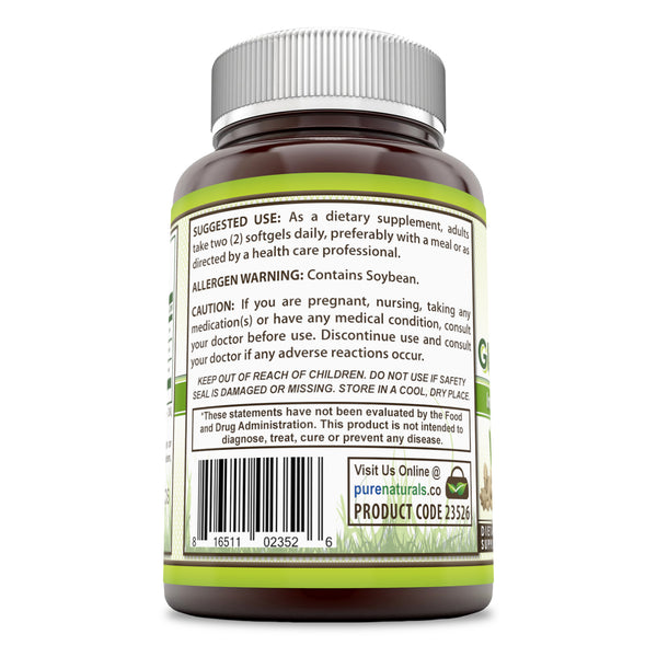 Pure Naturals Peppermint Ginger and Fennel 120 Softgels