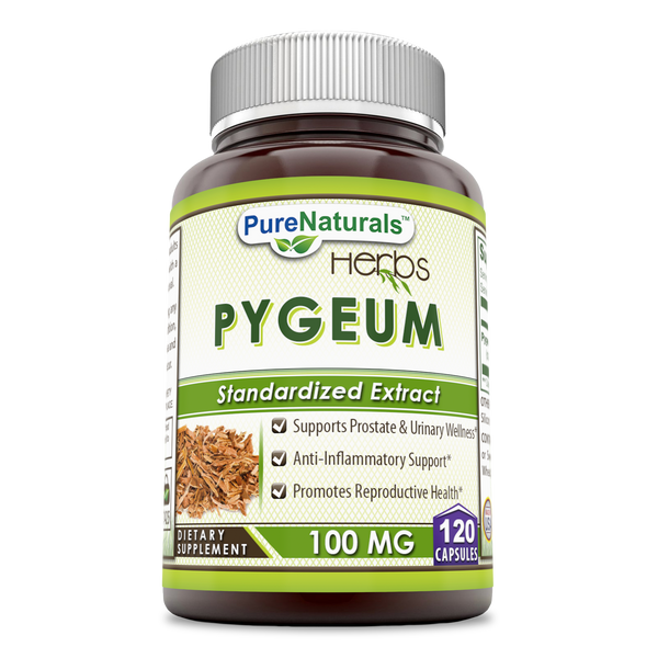 Pure Naturals African Pygeum Extract 100 Mg 120 Capsules