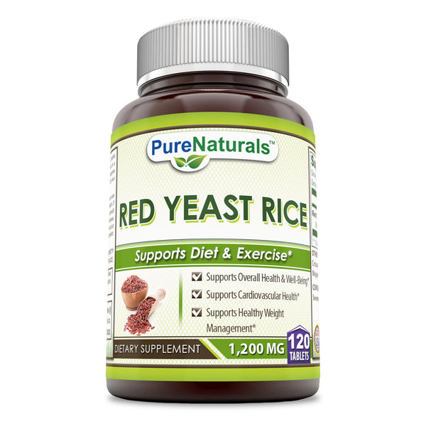 Pure Naturals Red Yeast Rice 1200 Mg 120 Tablets