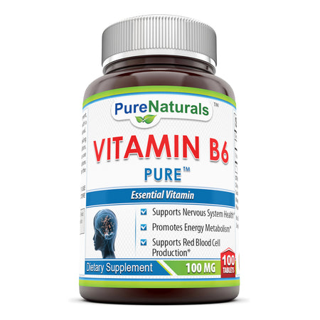 Pure Naturals Vitamin B6 100 Mg 100 Tablets