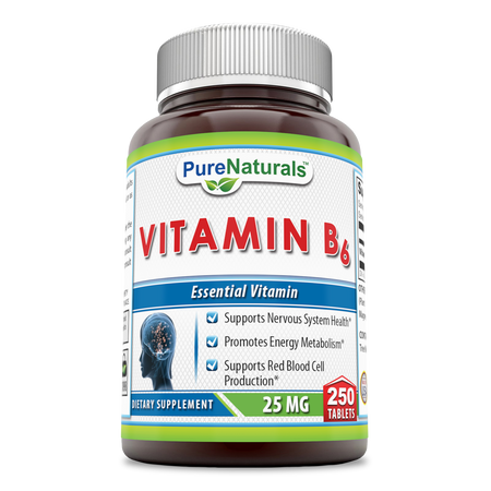 Pure Naturals Vitamin B 6 25 Mg 250 Tablets