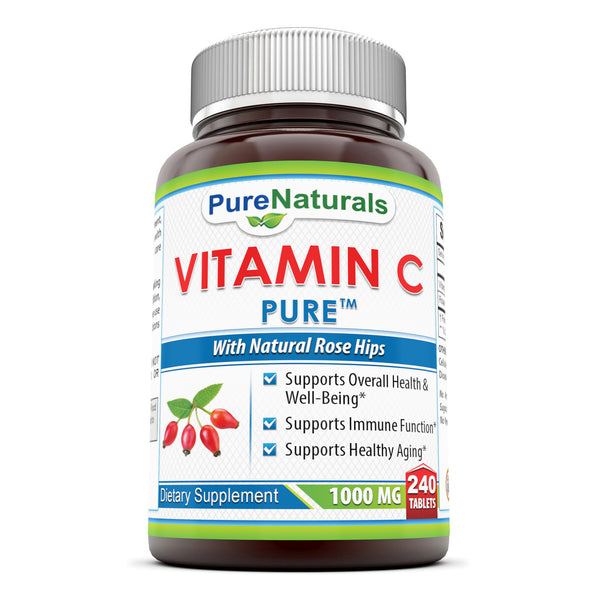 Pure Naturals Vitamin C with Rose Hips 1000 Mg 240 Tablets