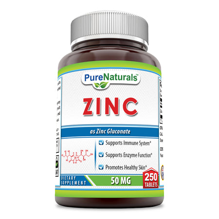 Pure Naturals Zinc Gluconate 50 Mg 250 Tablets