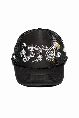 PAISLEY TRUCKER (BLACK)