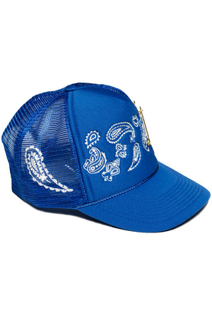 PAISLEY TRUCKER (BLUE)