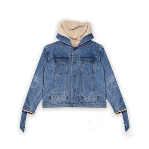 RESTRAINT HOODED JACKET (INDIGO WASH)