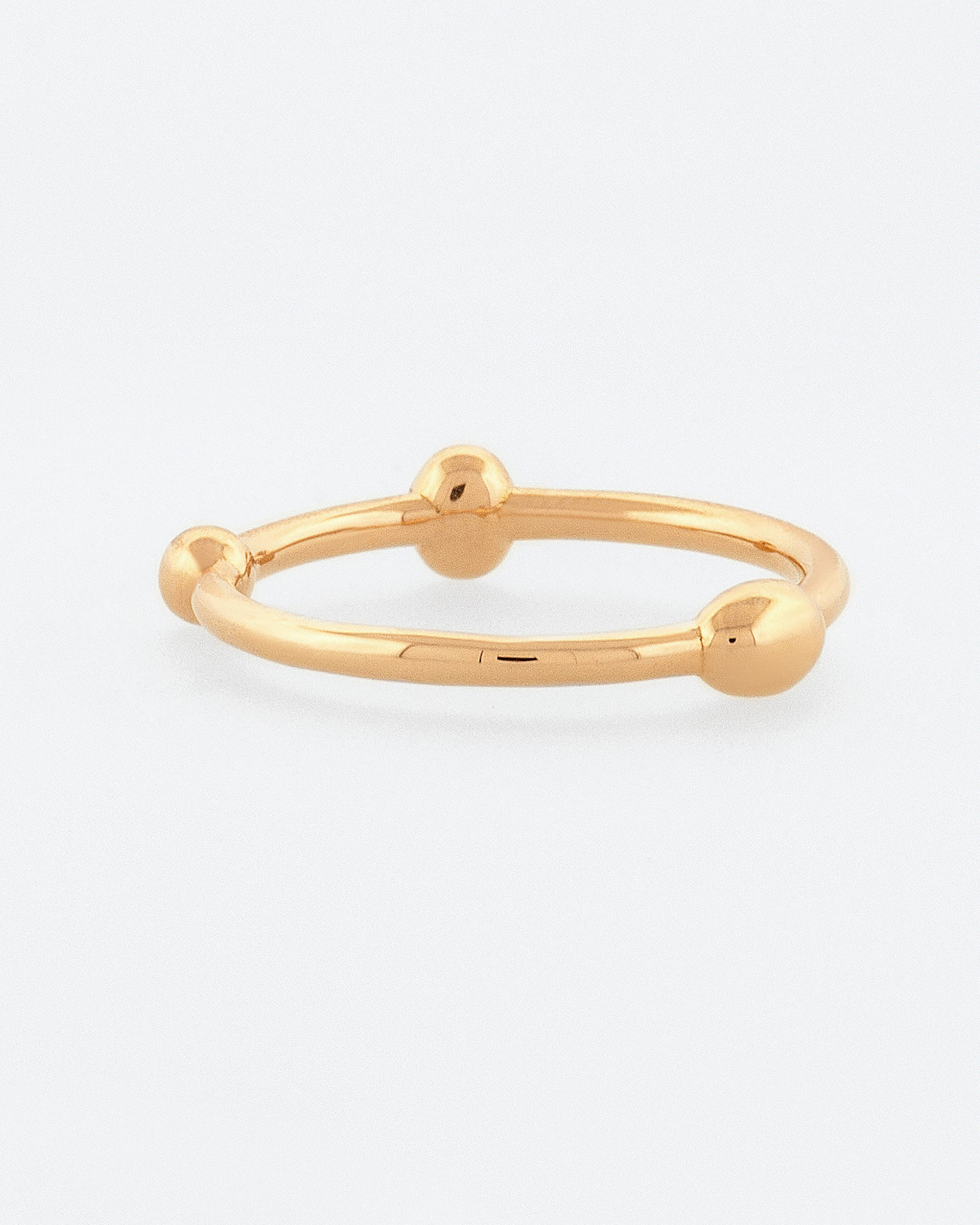 Gold Sphere Ring front view