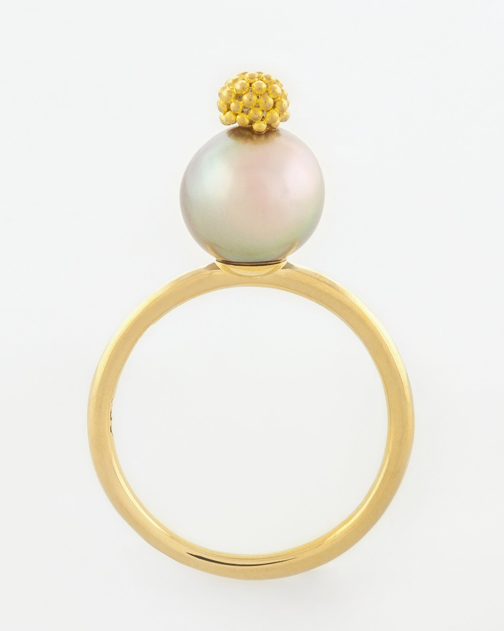 Light Cortez Pearl with 22k Graining Ring front view