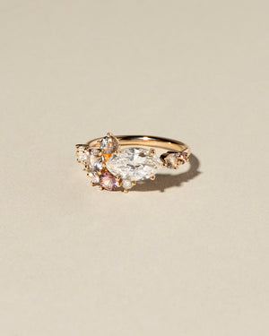 Marquise Cut Diamond Cluster Ring front view