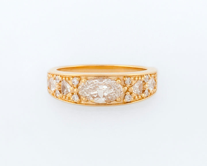 Marquise Cut Diamond Engagement Band