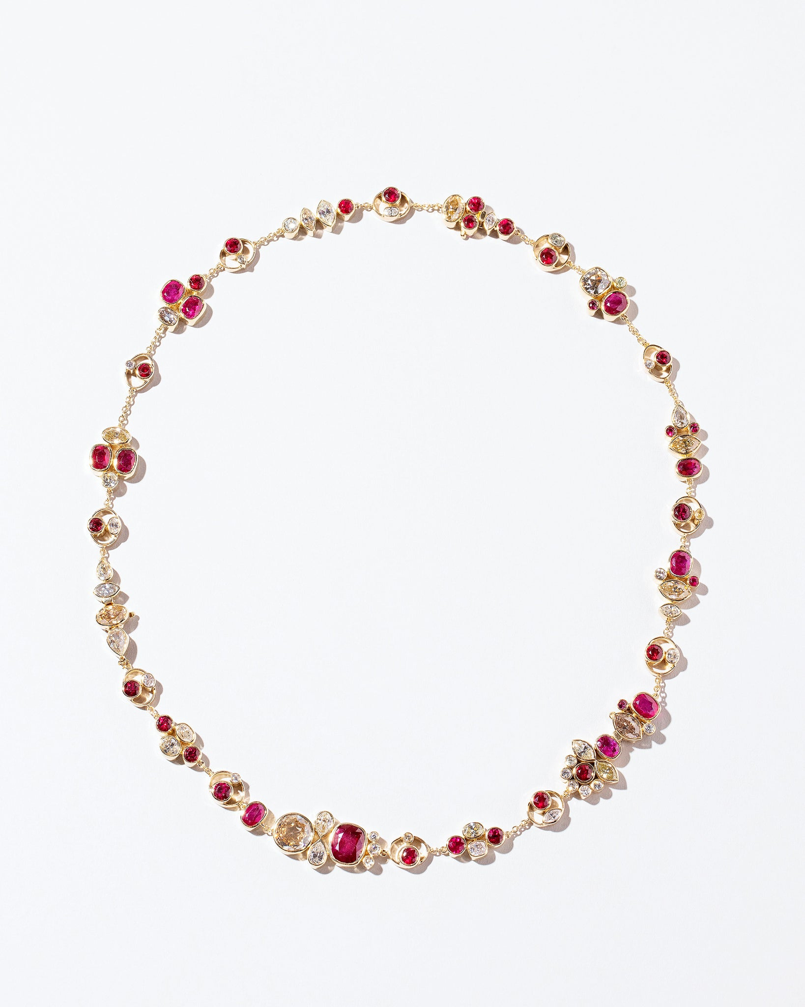 Diamond & Ruby Convertable Bracelet/Necklace