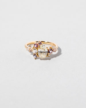 Oval Brilliant Cut Diamond Cluster Ring
