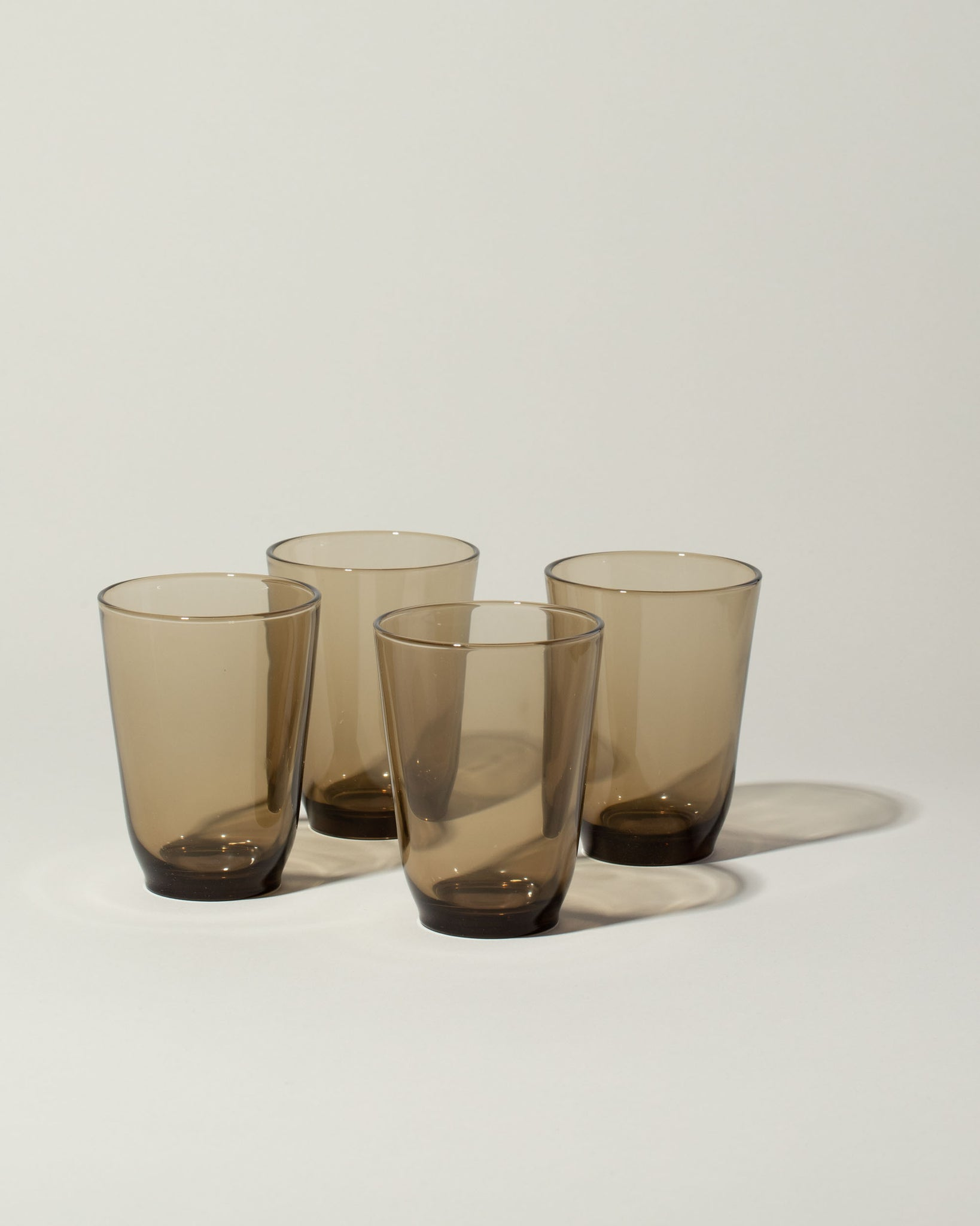 Hibi glasses set of 4 in brown