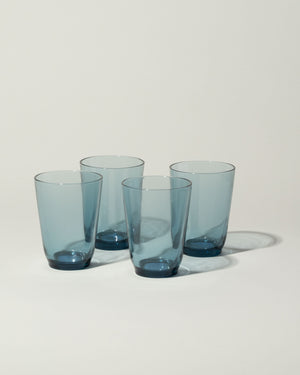 Hibi set of 4 glasses in blue