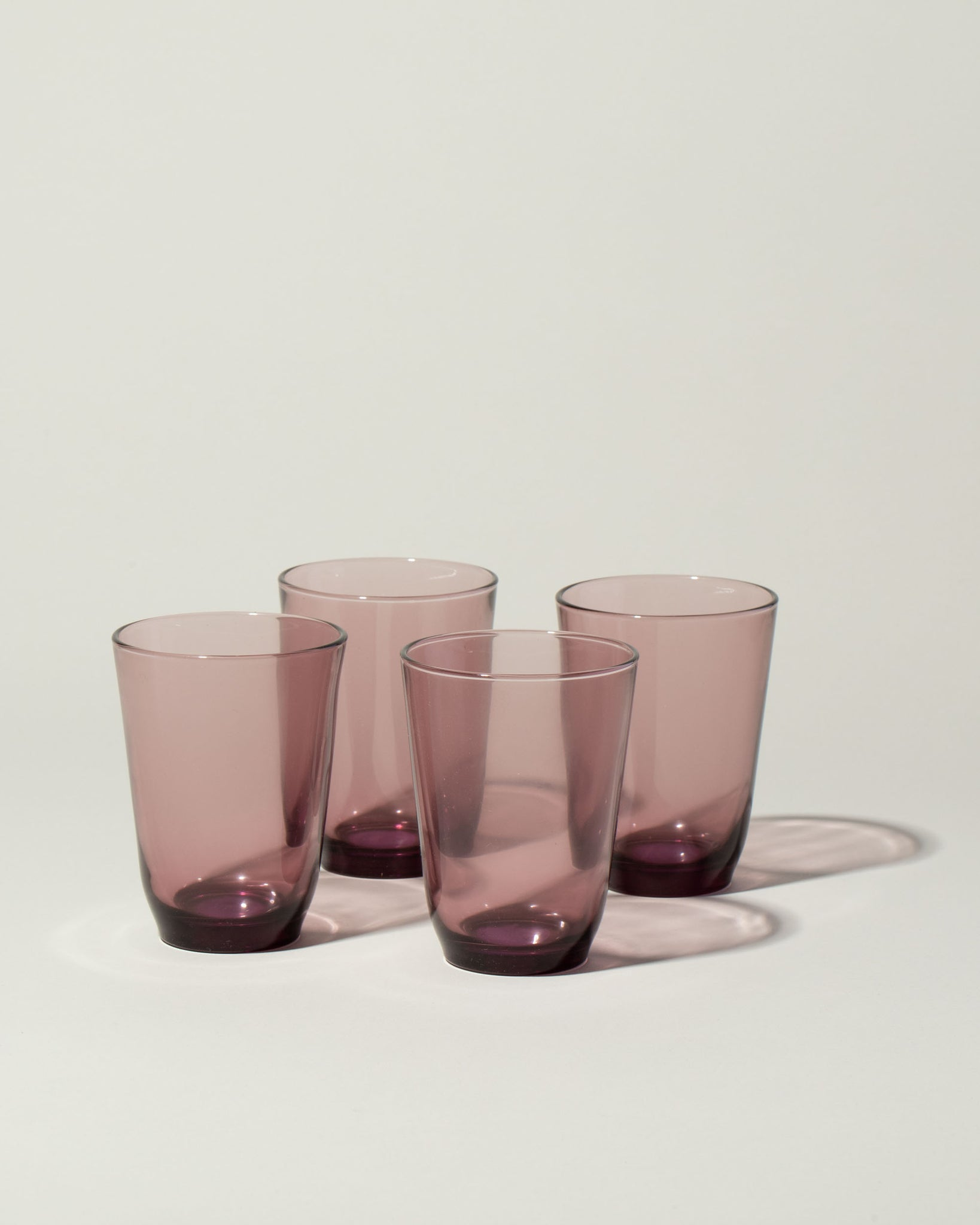 Hibi set of 4 glasses in purple