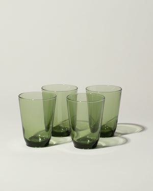 Hibi set of 4 glasses in green