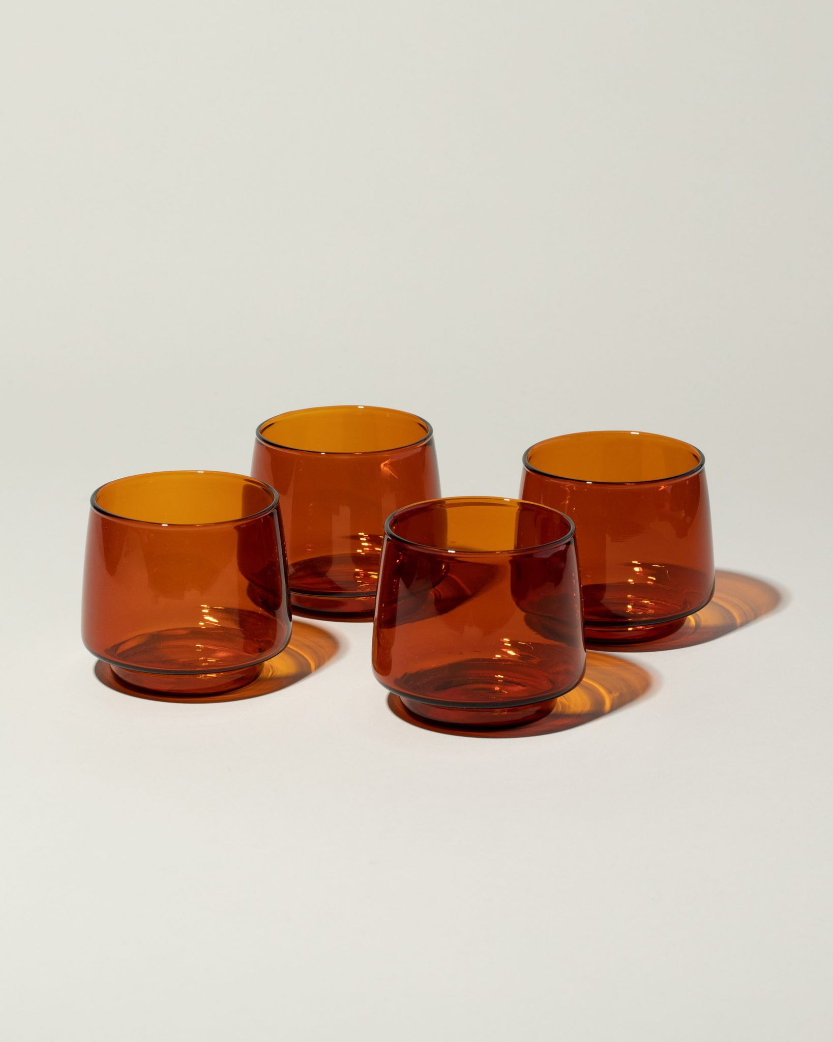 Sepia Glass Tumbler Small set of 4