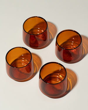 Sepia Glass Tumbler Small set of 4 top view