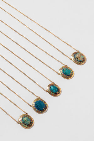 Group of Scarab Necklaces