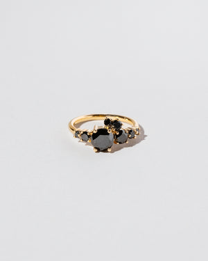 All Black Diamond Luna Ring