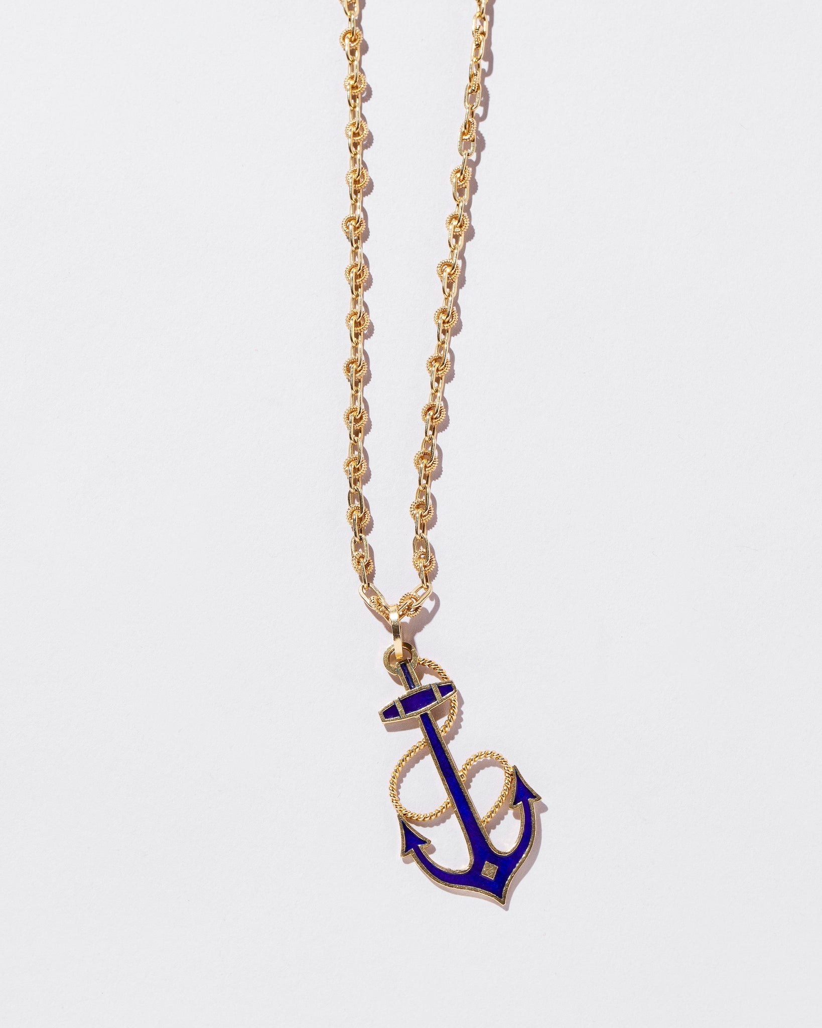 Anchor Pendant Necklace front view
