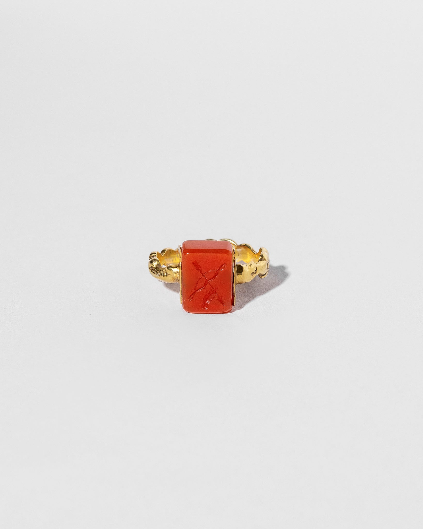 Carnelian Flip Ring front view