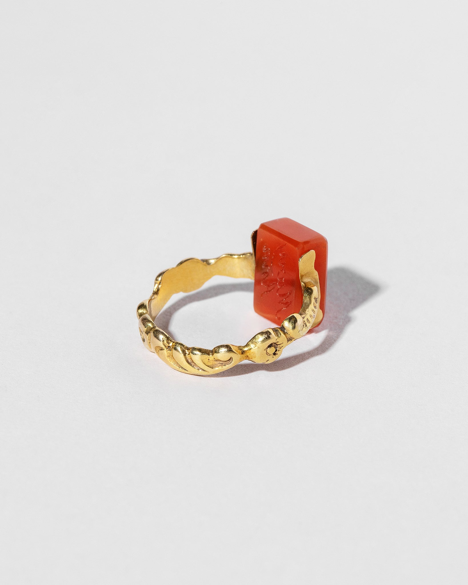 Carnelian Flip Ring back view