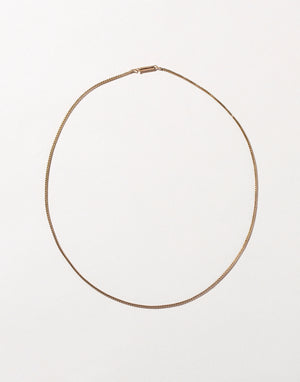 Round Mesh Chain Necklace