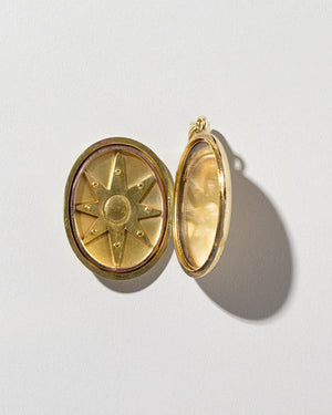 Bicolor Sapphire Locket interior view