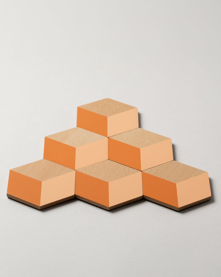 Table Tile Coasters in Terracotta