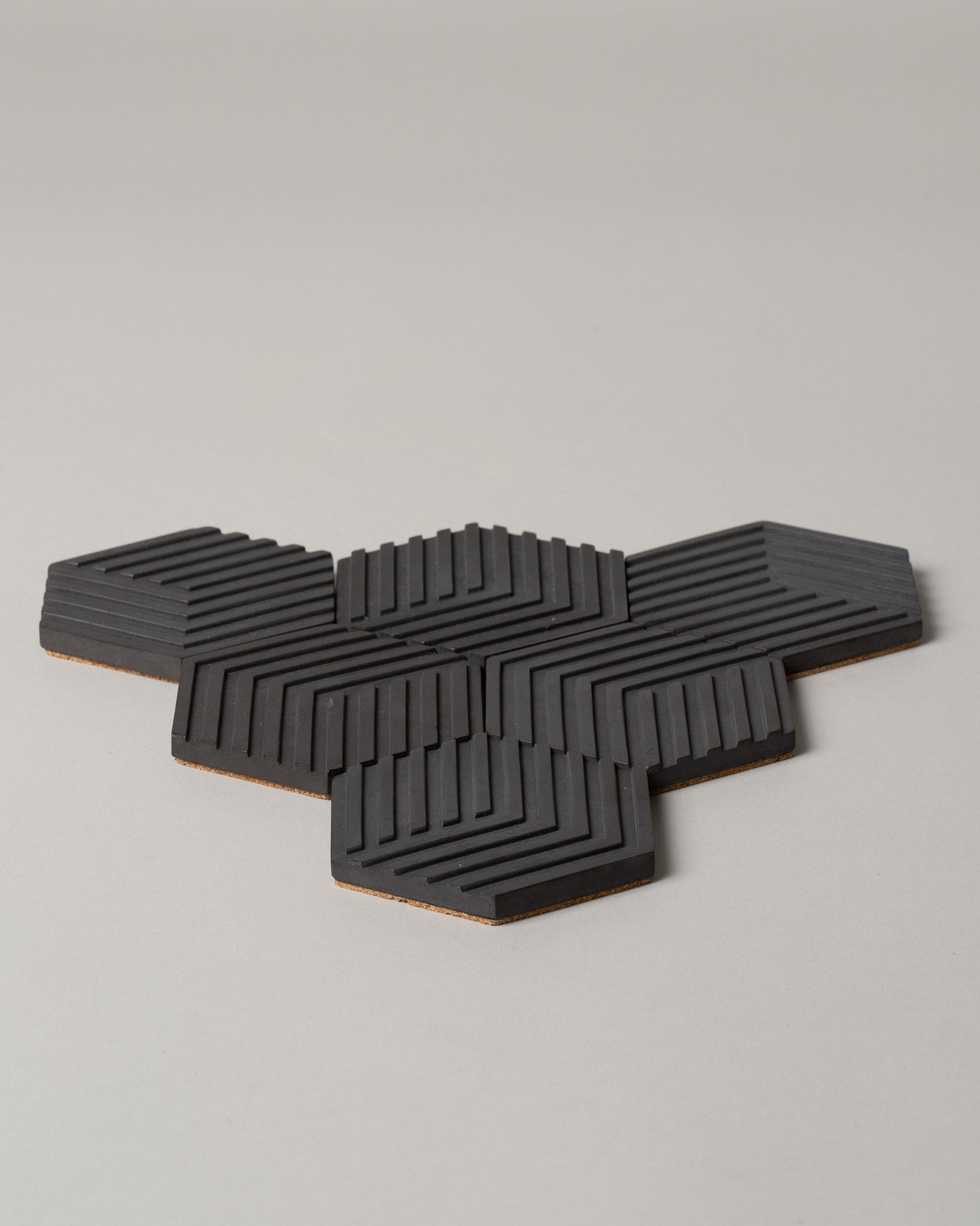 Table Tile Concrete Coasters in Charcoal Gray