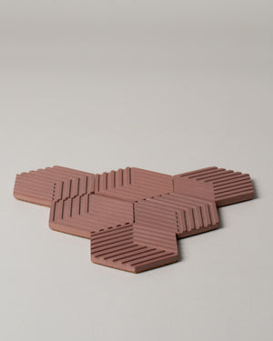 Table Tile Concrete Coasters in Antique Pink