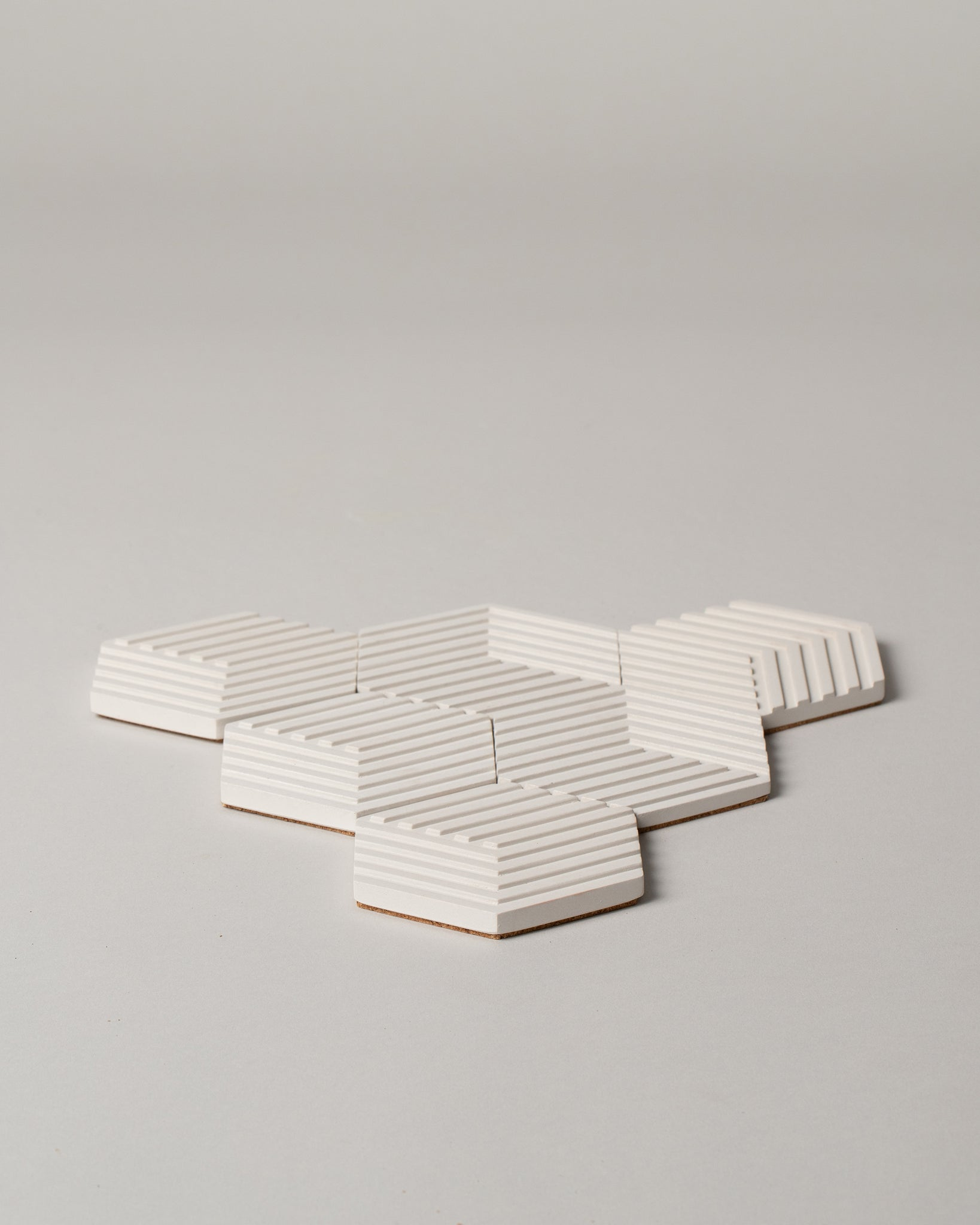 Table Tile Concrete Coasters in Natural White