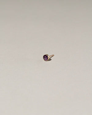 Birthstone Single Stud Amethyst