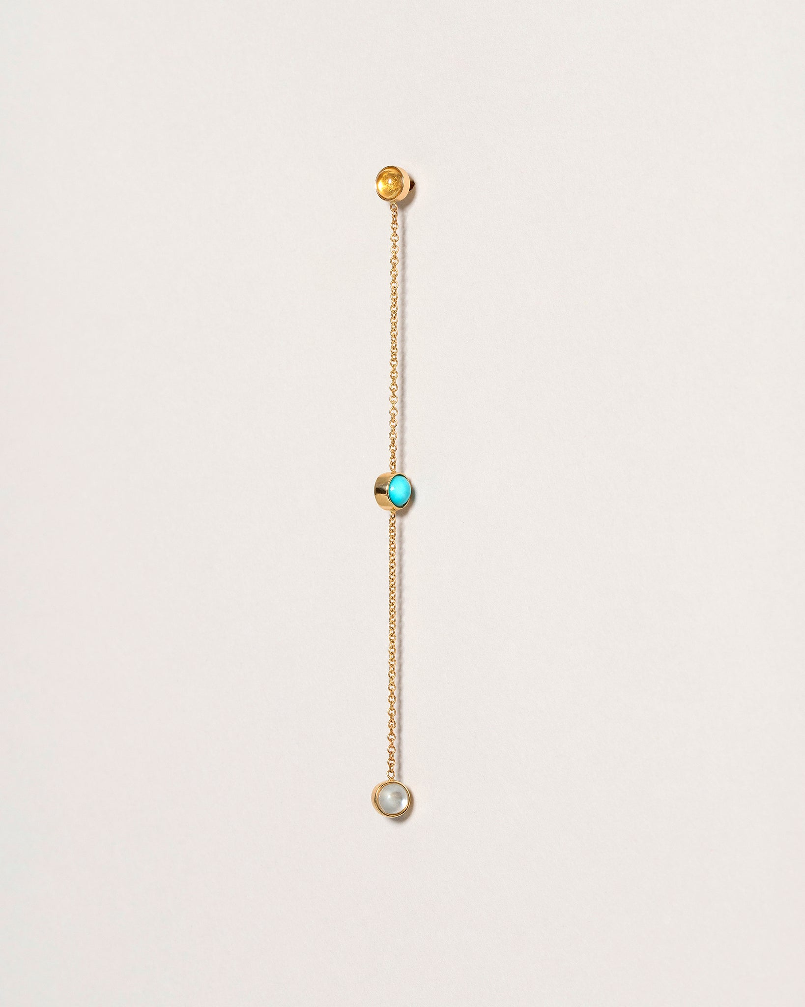 Birthstone Single Two-Drop Earring