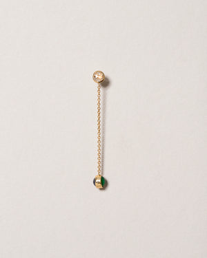 Birthstone One-Drop Single Earring on light color background