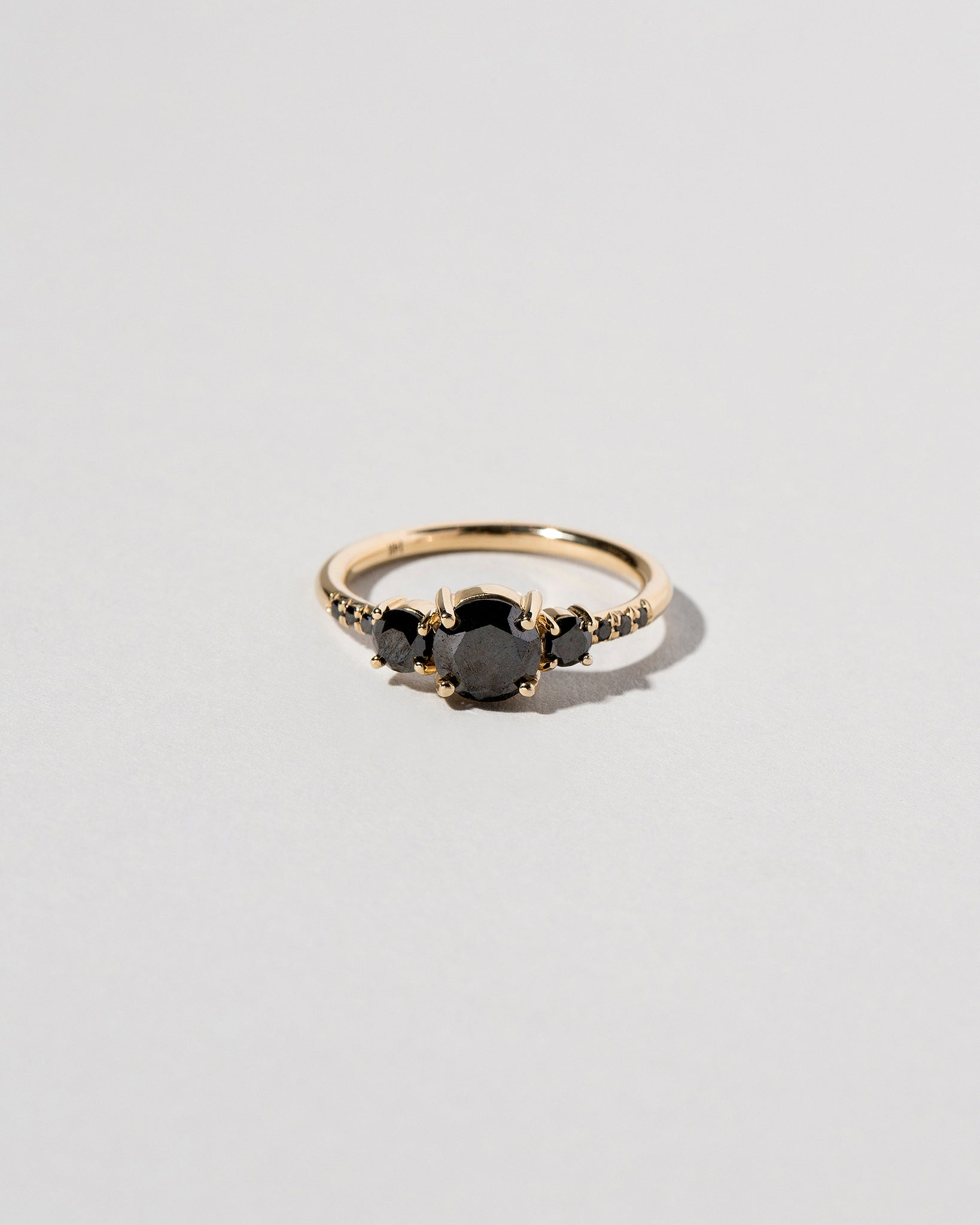 Orion Black Diamond Cluster Ring Front View