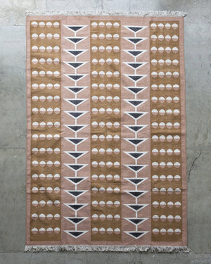 Block Shop Swallowtail Rug laying flat