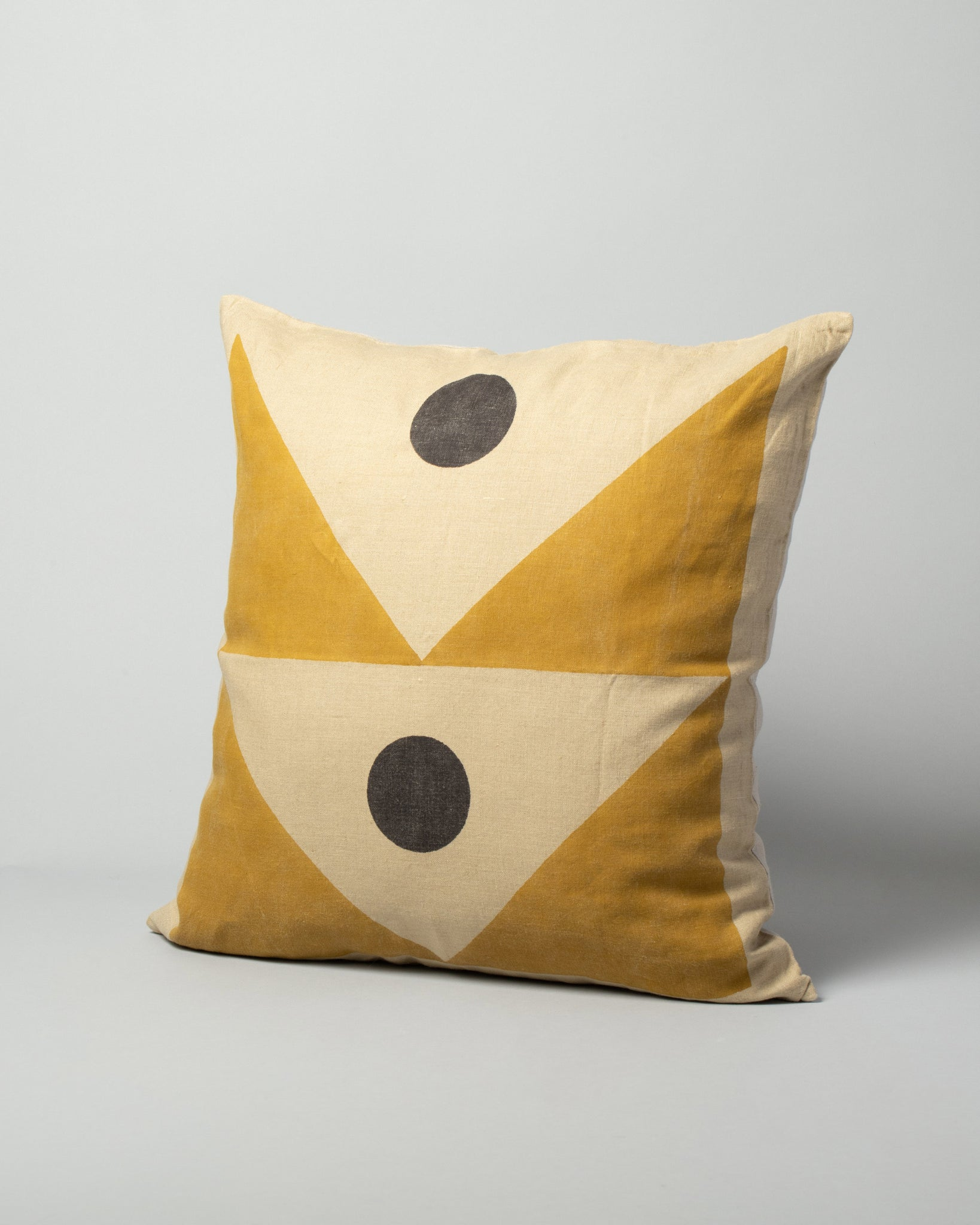 Block Shop Signal Pillow Cover on light color background