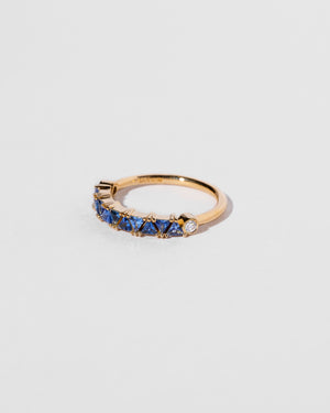 Blue Sapphire Eleven Trillion Ring side view