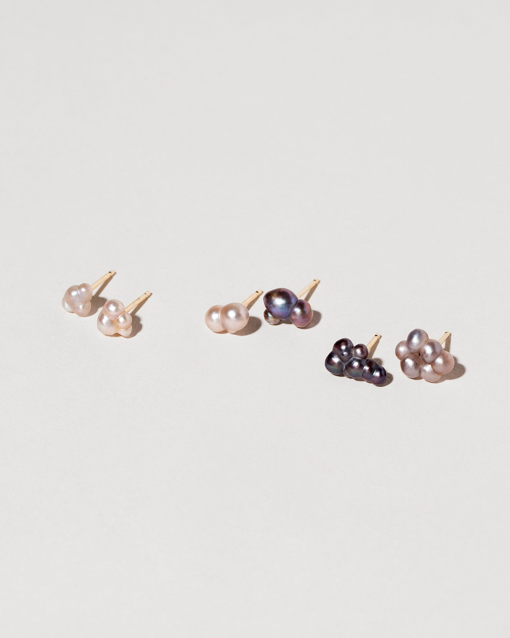 Three pairs of Bubble Pearl Stud Earrings
