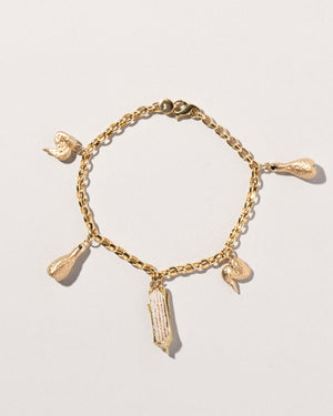 Chicken Wing Charm on bracelet chain