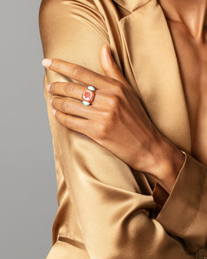 Courage Ring on model.