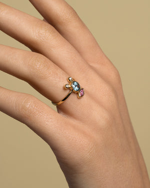 Creature Sapphire Cluster Ring on Model