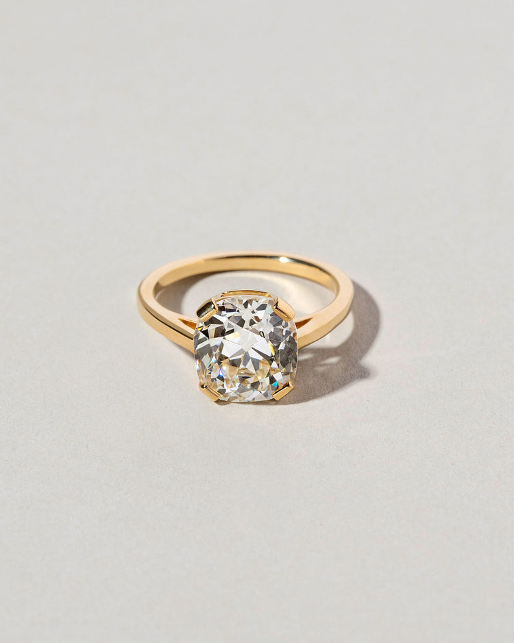 Front view of Cushion Cut Diamond Solitaire Ring