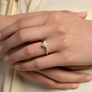 Cushion Modified Brilliant Diamond Solitaire Ring