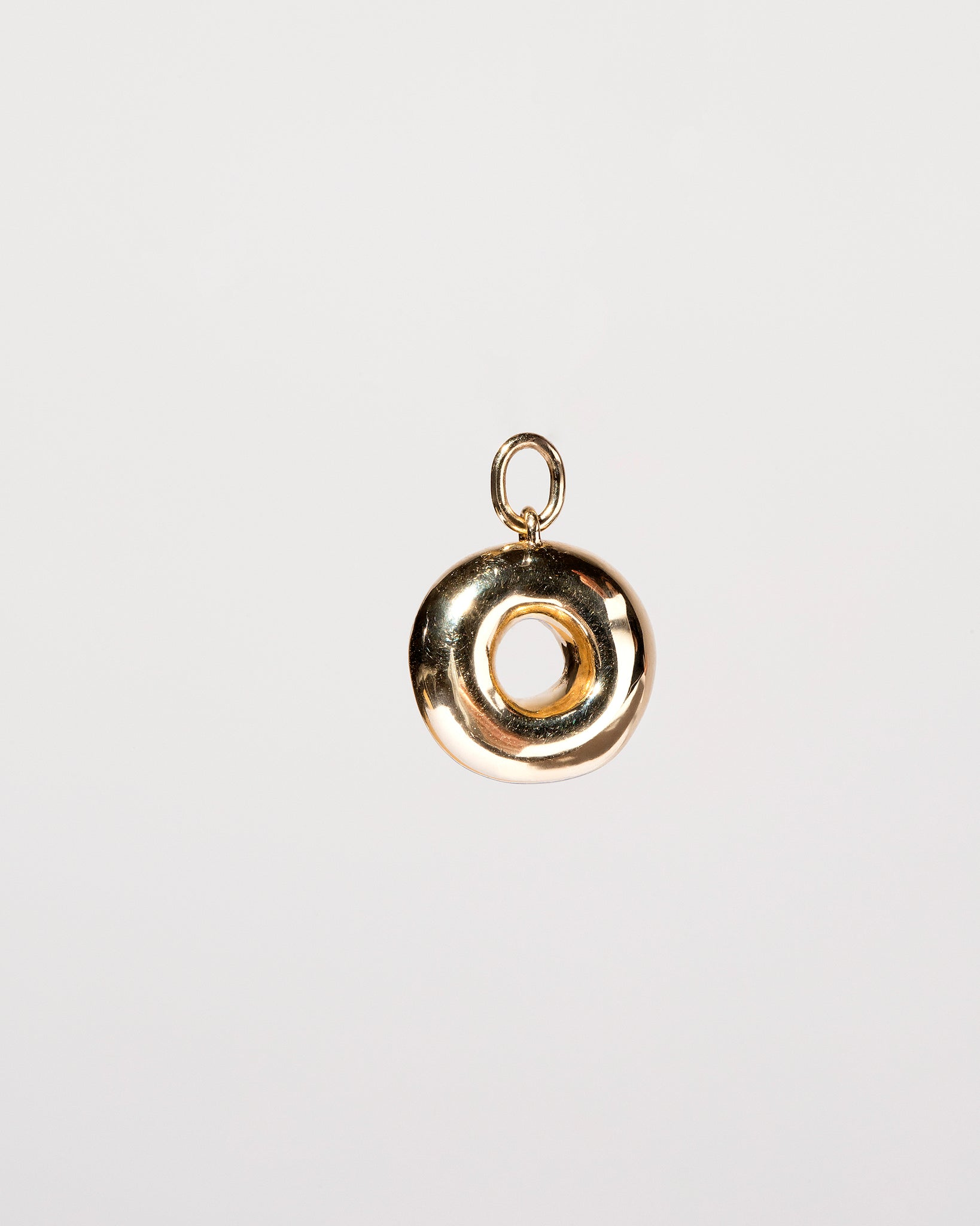 Plain Donut Charm - Final Sale on light color background.
