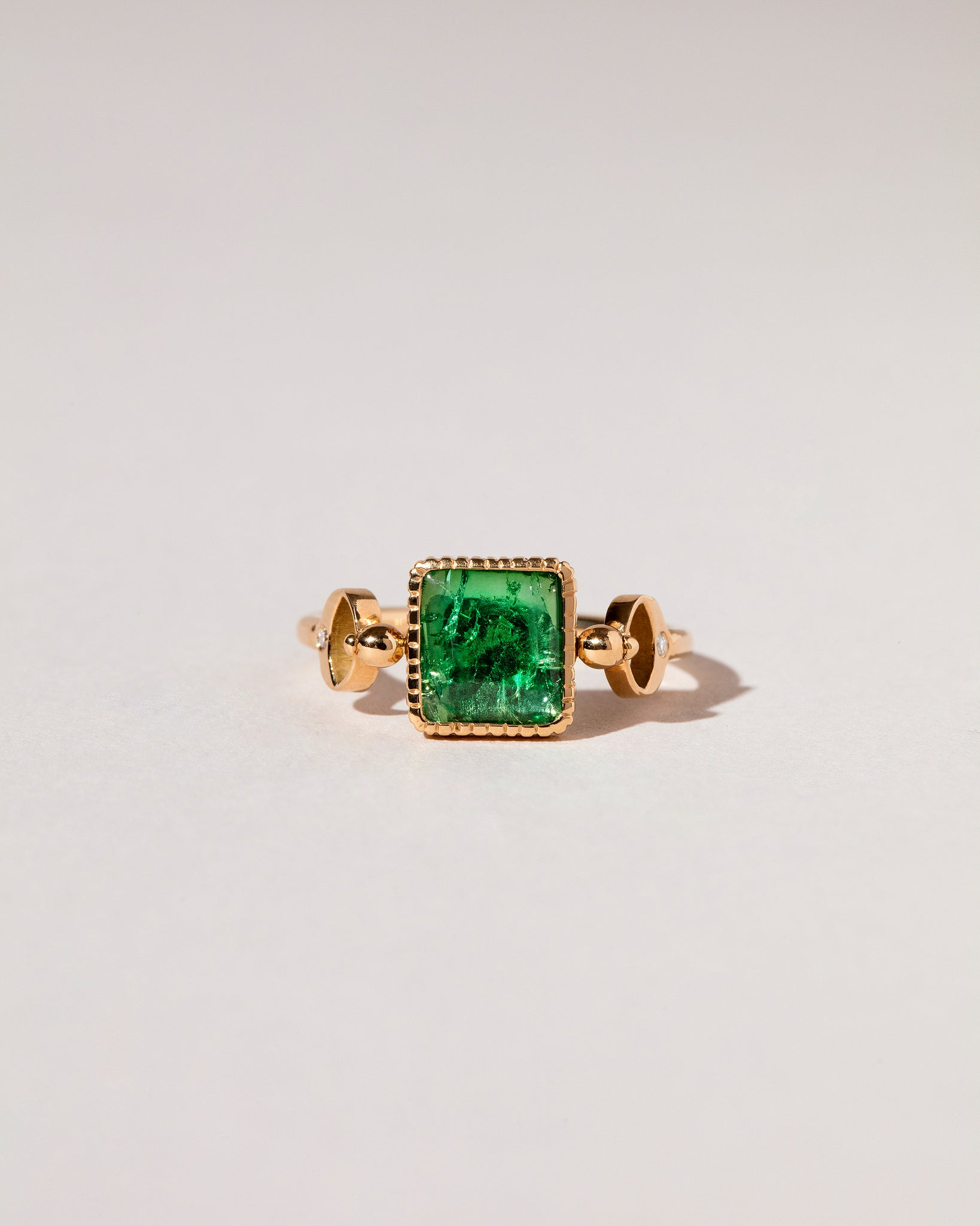 Emerald Moon Ring front view